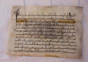 Faksimile 1297- napsané bez pečetí