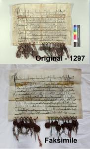 Originál a faksimile - 1297