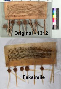 Originál a faksimile - 1312