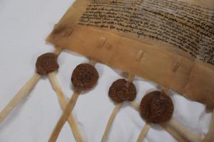 Faksimile 1312 - detail pečetí