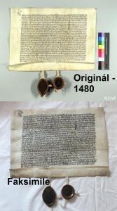 Originál a faksimile - 1480