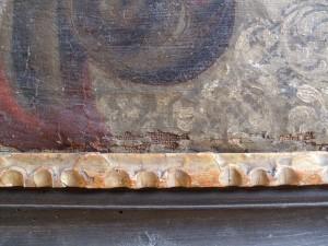 Detail před restaurováním.