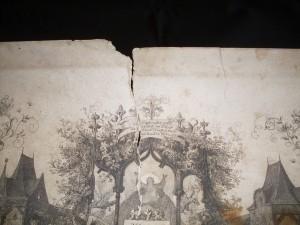 Před restaurováním, detail.